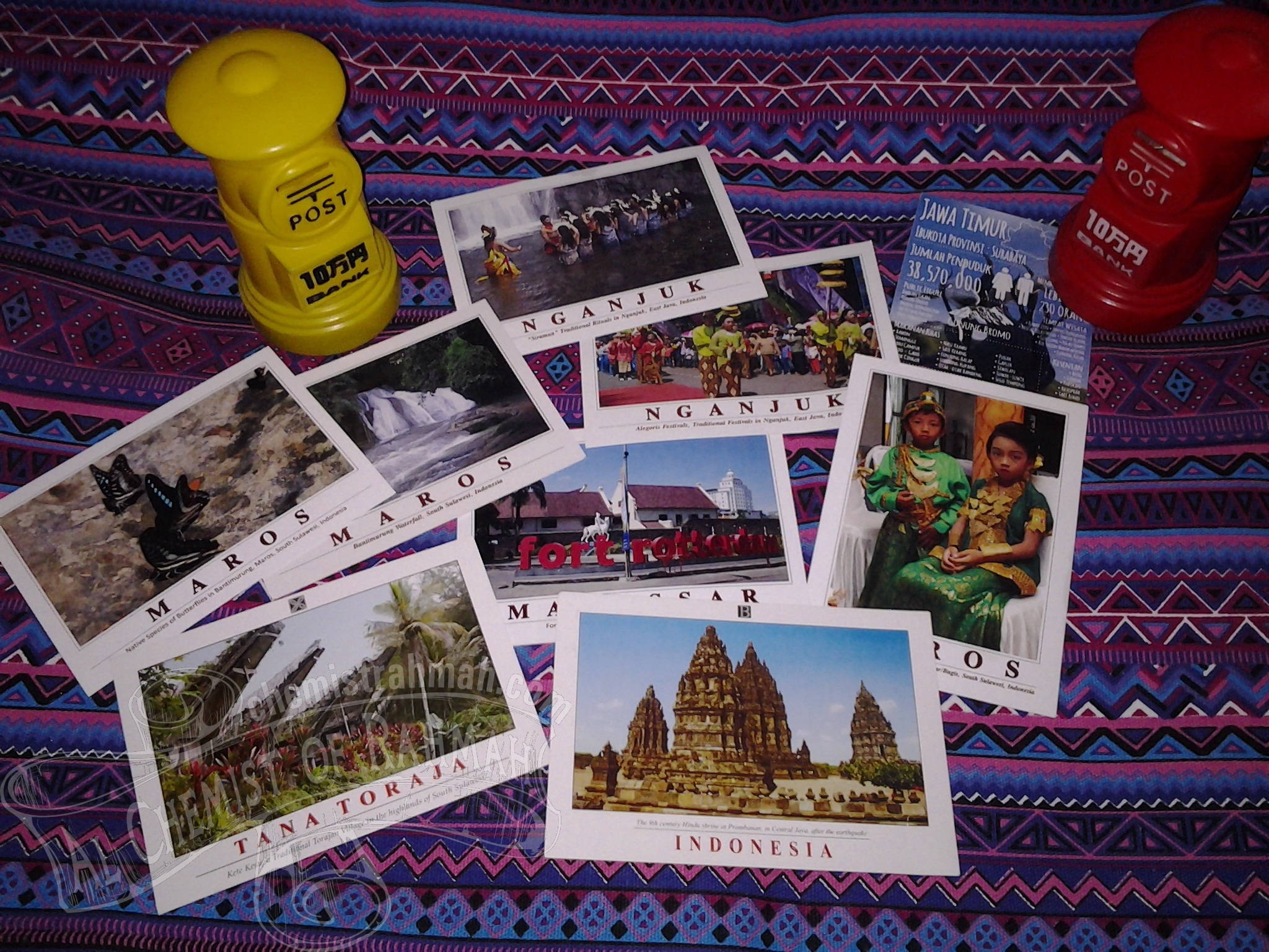 Postcards of Indonesia