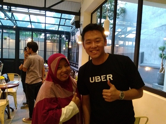 with Mr.Weylen (Uber Surabaya)